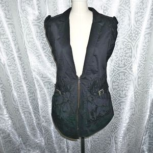 Nanette Lepore Black sleeveless jacket vest